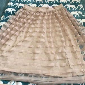 Rose Gold Polyester Skirt